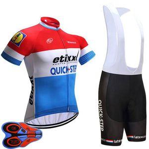 2021 Quick Step Team Cycling Maniche corte in jersey Shorts Set Mens traspirante Quick Dry MTB Abbigliamento estivo Ropa Ciclismo U21042006