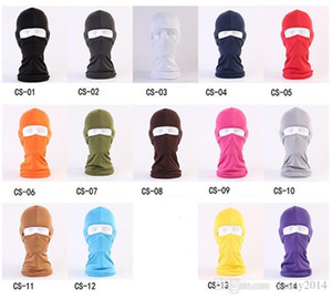 Outdoor Protection Full Face spandex Balaclava Headwear Ski Neck Cycling Motorcycle Mask Wind protection face hood masks Anti-terrorism mask