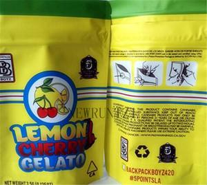 2021D Limone Gelato Gelato Borsa Lemon Cherry Gelato 3.5 Mylar odore a prova di prova zip serratura ermetica a prova di bambino per imballaggio