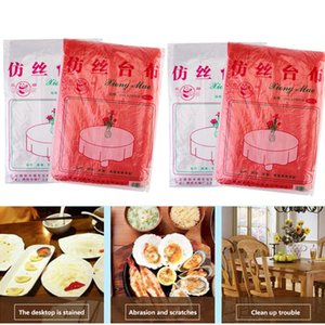 Disposable Table Covers Wedding Tablecloth Plastic Party Set Catering Meal Tableware Cloth Rectangular Decor Home Accessories 10pcs bag