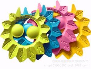 Creative Children's Maple Leaf Waterproof Shower Cap Adjustable