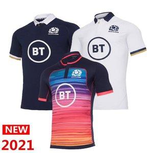 Шотландия 2021 регби Иериста Главная Национальная команда Шотландия Поло Футболка Регби Трикотажные изделия Мужские рубашки Размер S-5XL