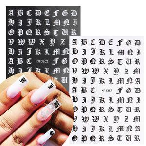 3D Numéro symbolique Nail Art Stickers Décoration Manucure Couleur Mixte Butterfly Star Coeur Stickers de bricolage auto-adhésif auto-adhésif