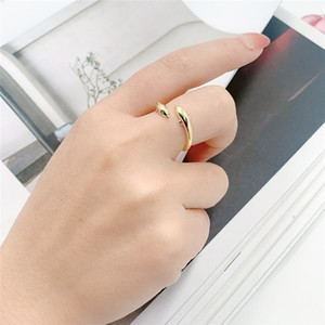 2021 New Copper Wedding Ring Cd Gold Ring For Women Simple Fashion Love Bohemian Jewelry for Women Elegant Ring