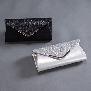 Evening Bags Women Sequins Clutch Envelope Handbag Fashion Chain Purse Wedding Party Messenger Shoulder Cross Body Mobile Phone Bag for Travel Shopping Causal