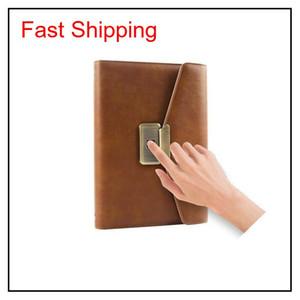 Fingerprint Lock Notebook New Style New Fashion Trend Journal Top Secret Notebooks For Gift And Rewarding Fwrl0 Hafwk