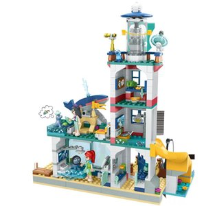 41380 Bricks DIY Toys Girl Friends Lighthouse Rescue Center Building Block for Girls Gifts Children