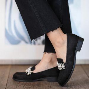 Mio Gusto Matilda, Black navy Blue Colors, Casual, Fashion, Low Heel, Comfort Female Oxford Women's Designer Shoes, Tqqr
