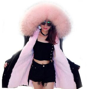 Furtjy Spedizione gratuita Nuovo arrivo Camoflage Parka con pelliccia Faux Fur Foderato Parka con Plus Size Big Real Raccoon Collar