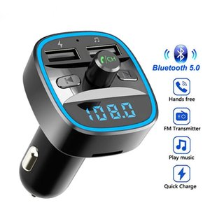 Car MP3 Player Bluetooth Wireless Handsfree Kit T25 5.0 Receiver FM Transmitter Modulator Dual USB Mobile Phone Quick Charger U Disk TF Card Interior Accessories