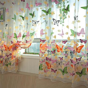Curtain & Drapes Selling 200cm X 100 Cm Butterfly Print Sheer Window Panel Curtains Room Divider For Living Bedroom Kitchen