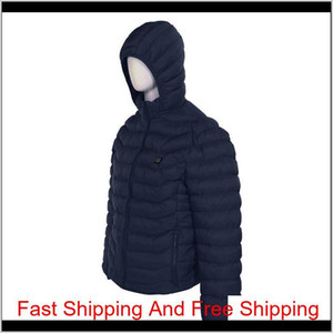 2021 Upgrade 8 Heating Zones Mens Women Heated Outdoor Vest Usb Electric Heated Hooded Long Sleeves Jacket qylHXb my_home2010