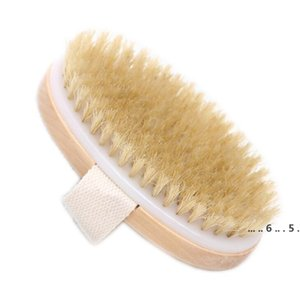 Body Soft Natural Bristle Brush Wooden Dry Skin Bath Shower Bristle Brush SPA Body Brush Wthout Handle FWB5310
