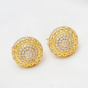 NEW vintage gold color large huggies hoop earrings for women luxury jewelry designers earings