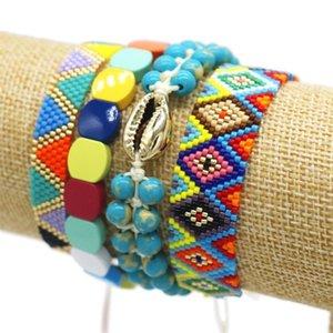 سحر أساور العنب miyuki سوار أزياء الصيف الشاطئ شل هندسية نمط أساور موهير مودا 2021 أنثى الهدايا