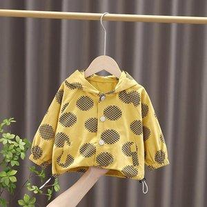 Hoodies & Sweatshirts 2021 Fashion Kids Outwear Tops Coat Cotton Boys Print Sweatshirt Girl Printe School Top Clothing 0-5 Years