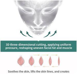 Mascarilla de elevación de cara reutilizable 3D anti arrugas adelgazamiento vendaje V Shaper Full Face Lift Slim Durming Durming Mask Beauty Br Qylewi