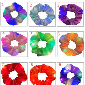 Led Shiny Scrunchie Night Disco Dancing Hair Tie For Women Elastic Hair Bands Rope Party Christmas Bar Light Hair Acc qylmKr