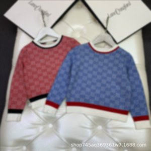 2021 high edition Gaoding manyin Unisex knitted sweater short Pullover children's long sleeve sweater