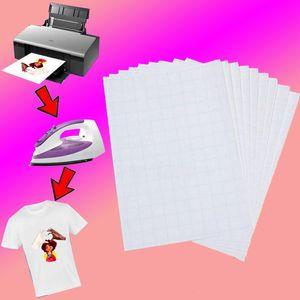 Sublimação Blanks A4 Papel Light Color T-shirt de Algodão Puro / Mask Sublimation Papel Ferro Transferência de Calor Papel 29 * 21cm XD24547