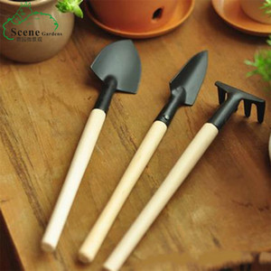 3pcs set Mini Garden Tools ake+Spade+Shovel For Fairy Garden Miniatures Tools Terrarium Figurines Tool Free Shipping 367 S2