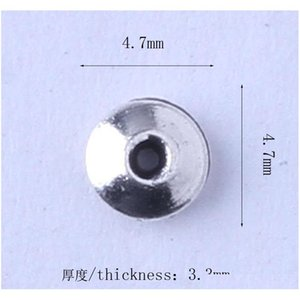 Mini Round Spacer Bead Charms 1000pcs lot Retro Antique Silver bronze Pendant Zinc All jlleeN carshop2006