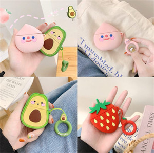 3D cute lovely cartoon fruit animal for apple airpods case airpod 2 3 pro earphone charger box protective cover Headphone accessories