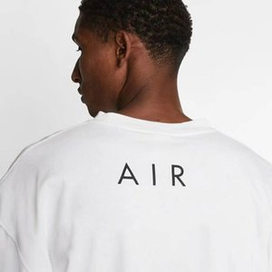 20SS NRG Air T-рубашки Бренд Сотрудничество Случайные негабаритные TEE для мужчин Женщины Летние Хлопок Джерси Рубашки Хип-Хоп Скейтборд Улица S-XL # 176