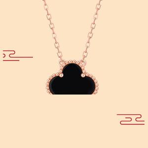Collier de bijoux de mode Noir et blanc rouge Vert Four Feuille Fleur 18K Collier Or Collier Diamant Clover Boucle