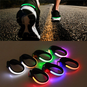 LED Luminous Shoe Clip Light Outdoor Running cycling Bicycle RGB Novelty Lighting Safety Night Warn lamp Glowing night lamp