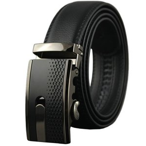 Men's Genuine Leather Belts with Automatic Buckle Fashion Designer h Brands Business Ratchet Waist Straps Gift