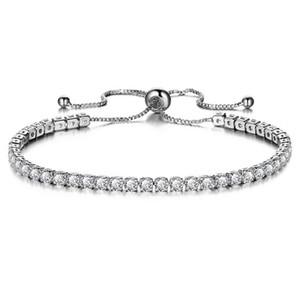 New Cubic Zirconia Womens Bracelet Adjustable Charm Bracelet For Bridal Wedding Jewelry Ladies Exquisite Gift Pulseras Mujer