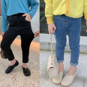 SK New INS Summer Spring Kids Girls Jeans Denim Trousers Korean Jeans Girls Fashions Casual Denim Pants Elastic Trousers Children Clothes