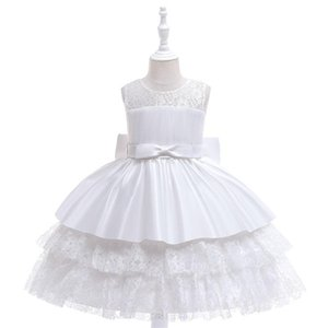 Girl's Dresses Children Lace Princess Birthday Party Prom White Wedding Bridesmaid Summer Dress Ball Gown Vestidos Baby Girls Clothes 10 Yea