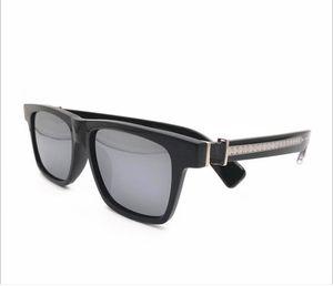 Hotsale غداء - نظارات شمسية للجنسين ريترو-خمر الاستقطاب للنساء الرجال UV400 المستوردة نقية بلانك ساحة bigrim 56-18-143 fulled box
