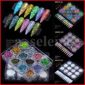 12 цветных 3D ногтей блестки смешанные блеск порошок блестки порошок для ногтей украшения голографического эффекта