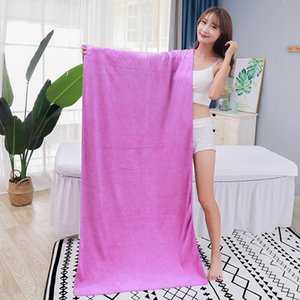 Thickened superfine fiber 140 * 70 bath towel hairdressing bath towel adult absorbent bath towel factory direct sale