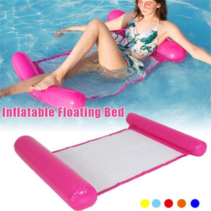 120 * 75cm Foldable Summer Water Hammock Swimming Pool Inflatable Mat Toys Rafts Floating Bed Drifter Lounge Chair