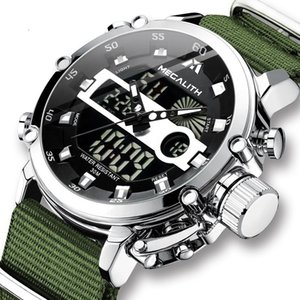 Top Marca Megalith Casual Business Watches for Men Luxury Military Military Wristwatch Man Reloj Deporte Cronógrafo Reloj de pulsera