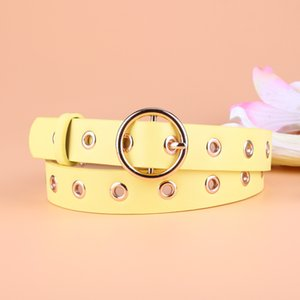 New Leather Round Metal Pin Buckle Circle Belts 8 Colors Hot Brand Fashion Punk o Ring for Women Belt W 2.7cm