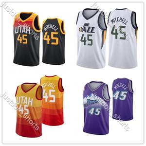 2020 Donovan 45 Mitchell Erkekler Jersey NCAA Rudy 27 Gobert Mike 12 Stockton Formalar Karl 10 Conley John 32 Malone Basketbol Formaları Yeni