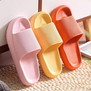 2021 Universal Quick-drying Thickened Non-slip Sandals Thick Sole House Slippers Bathroom Footwear Summer Beach Sandal Slipper