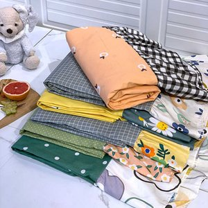 Pure cotton pillow case sheet 3-piece of small fresh piece set 1.5 1.8 bed