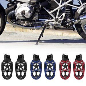Pedals 2 Pcs Universal Metal Off-road Motorcycle Motorbike Footrests Foot Peg