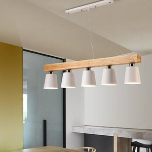 Pendant Lamps Nordic Japanese Led Oak Wood Light Lamp Fixture Hanging Lustre Avize Home Bedroom Living Room Salon Deco Maison