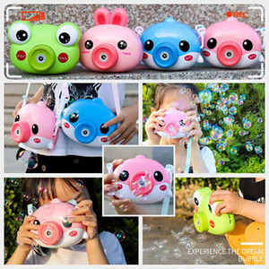 Cartoon Camera Bubble Machine Frog Bubble Gun Blowing Automatic Soap For Kids Electric Music Light Summer Outdoor Children Toys