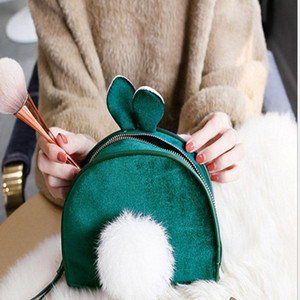 Cute Girls Bag1 With Bags Make Up Ball Lady Bags For Makeup Traveling Cases Cosmetic Handbag Women Hairy Cosmetics Fkddn