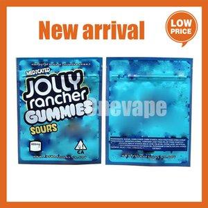 600 mg odore a prova di odore richiudibile confezione mylar bag jolly rancher gummies vuoto edibles aspro zipplock pacchetto