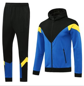 Custom classic style Hooded tracksuit jacket Maillot De Foot Survetement full Zipper Hooded tracksuit s-xl 0053