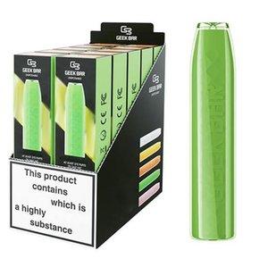 Geek Bar Einweg-E-Zigaretten 575 Puffs Vape-Stift 2.4ml Vorgefüllte Pods-Patrone 500mAh-Batterie-Starter-Kit PK Air Bars Lux-Puffel-elektronische Zigarette